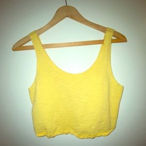 Forever 21 Yellow Crop Top!💛